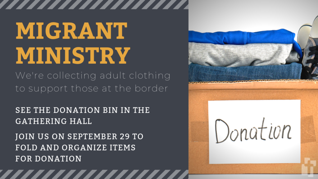 Migrant Ministry: Collecting adult clothes for migrants at the border