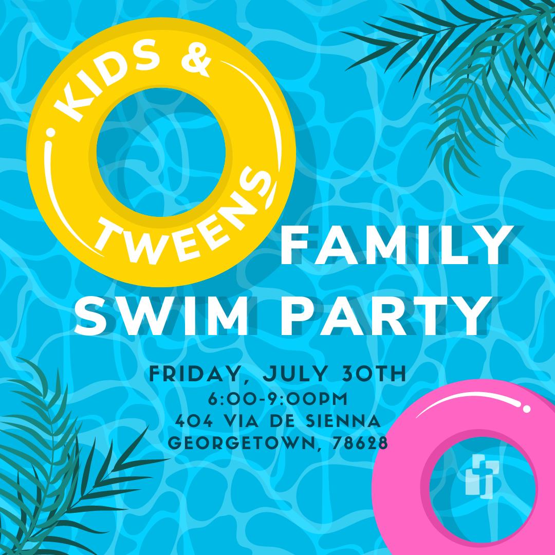 Kids & Tweens Pool Party